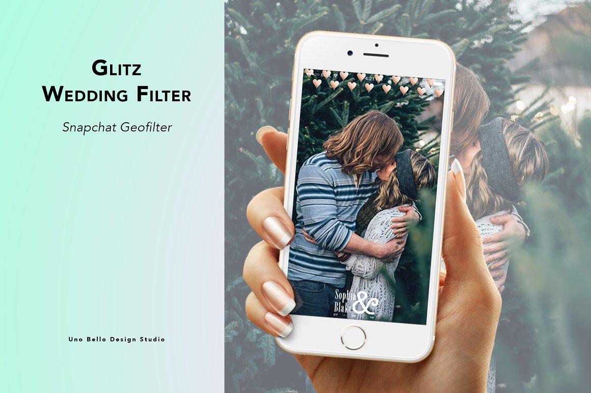 Glitz Wedding Geofilter