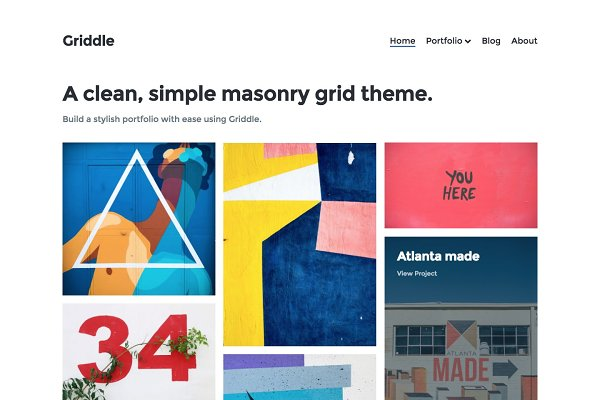 WordPress Portfolio Themes: Precrafted - Griddle – WordPress Portfolio Theme