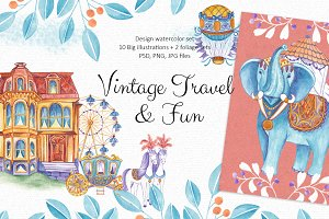 Vintage Travel & Fun Collection