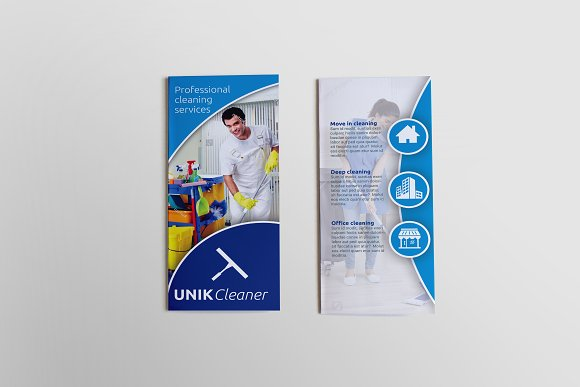 Cleaning Tri-Fold Brochure - SK ~ Brochure Templates ~ Creative Market