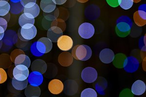 abstract bokeh background of Christm
