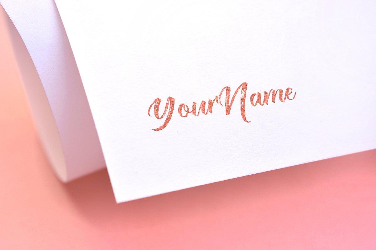 Logo Mock Up - Pink Glitter Effect