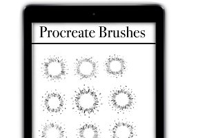 listings Procreate Brushes, wreaths