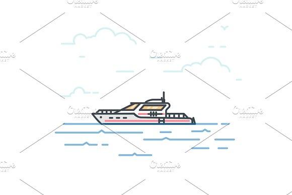 Big modern yacht
