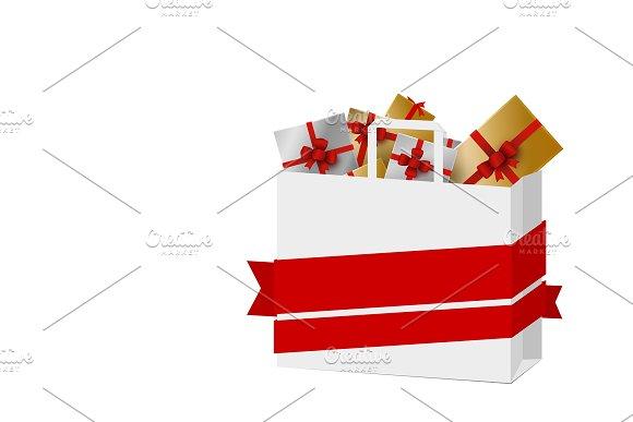 Gift box in shopping bag