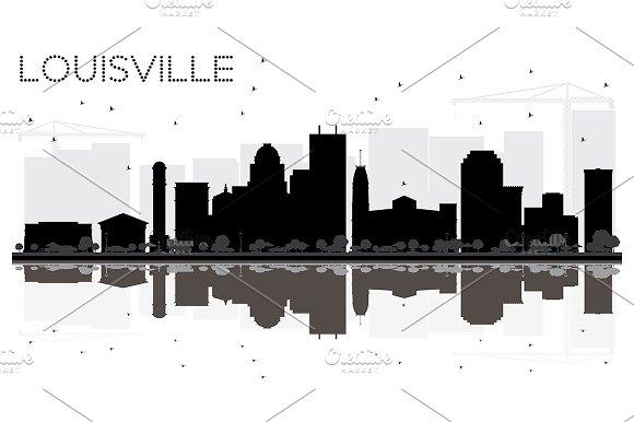 Louisville Kentucky USA City skyline in Illustrations