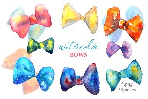 WATERCOLOR BOWS