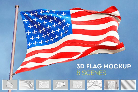 3D Flag Mock-Up