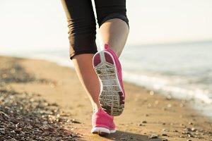 Woman running.