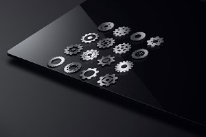 Gears Mechanic Machine Symbol Icon