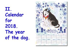 2. Calendar for 2018.