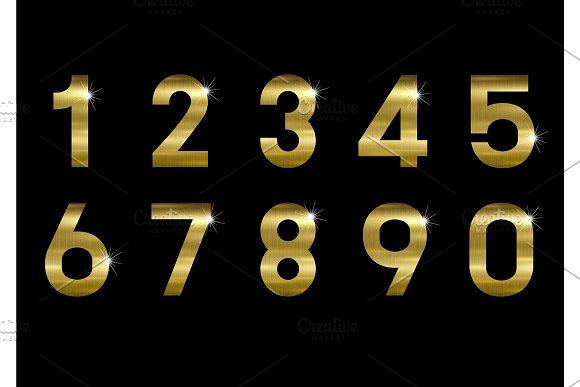 Gold metal number