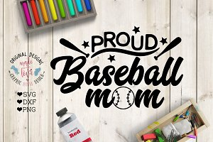 Proud Baseball Mom Cutting File