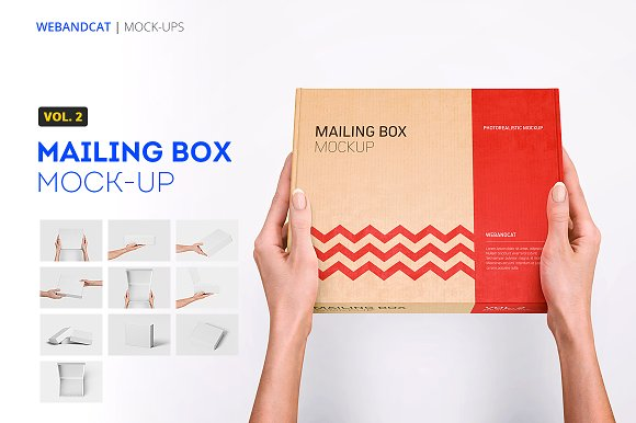 Mailing Box Mock-up 2-Graphicriver中文最全的素材分享平台