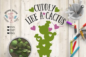 Cuddly like a Cactus Cut File