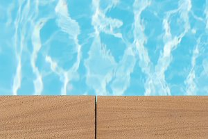 Swimming pool ,Rippled Water in swim