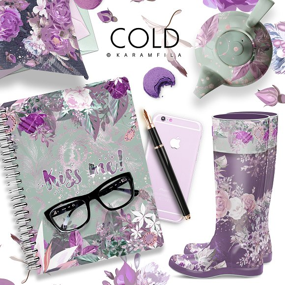 Purple Roses in Patterns - product preview 7