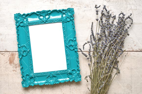Dainty Delicate Frames & Flowers Set in Print Mockups - product preview 2