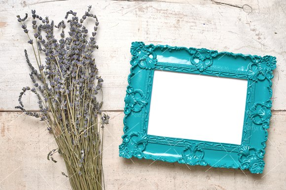 Dainty Delicate Frames & Flowers Set in Print Mockups - product preview 3