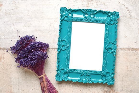 Dainty Delicate Frames & Flowers Set in Print Mockups - product preview 4