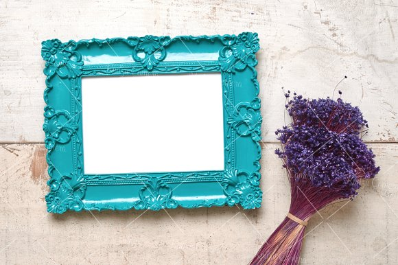 Dainty Delicate Frames & Flowers Set in Print Mockups - product preview 5