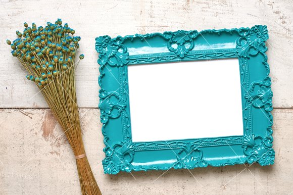 Dainty Delicate Frames & Flowers Set in Print Mockups - product preview 6