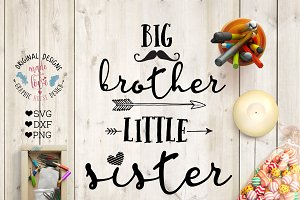 Big Brother Little Sister Cut File