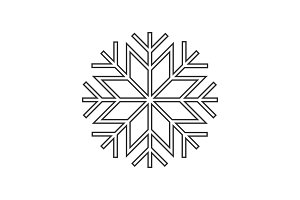 Snowflake ornament icon