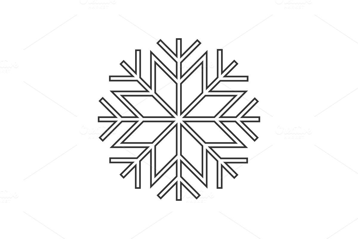 Snowflake ornament icon