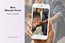 Nina Wedding Geofilter by  in Social Media