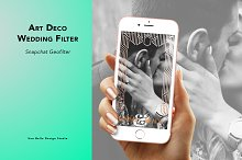 Art Deco Wedding Geofilter by  in Social Media