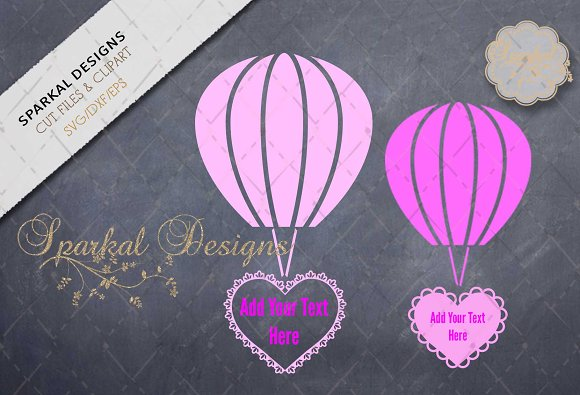 Hot Air Balloons with Filigree Heart