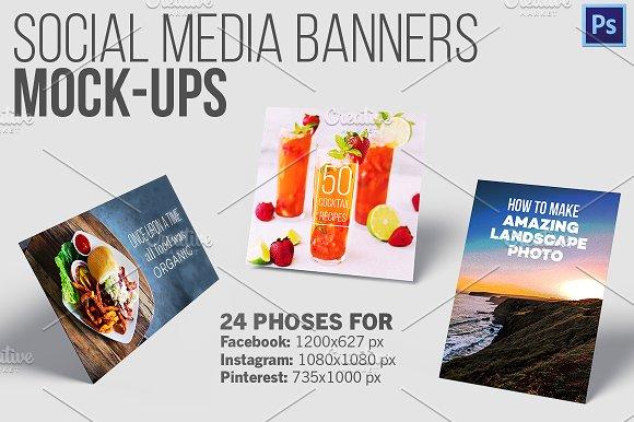 Social Media Banners - 24 Mockups