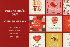 Valentine's Day Social Pack