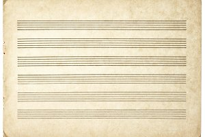 Paper sheet for musical notes