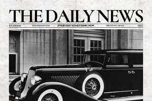 Vintage InDesign Newspaper Template