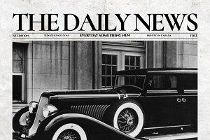 Vintage InDesign Newspaper Template
