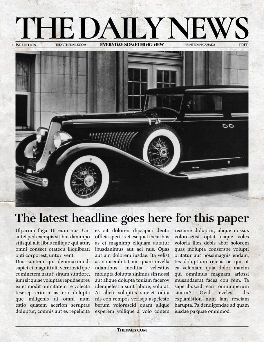 Vintage Indesign Newspaper Template Flyer Templates Creative Market