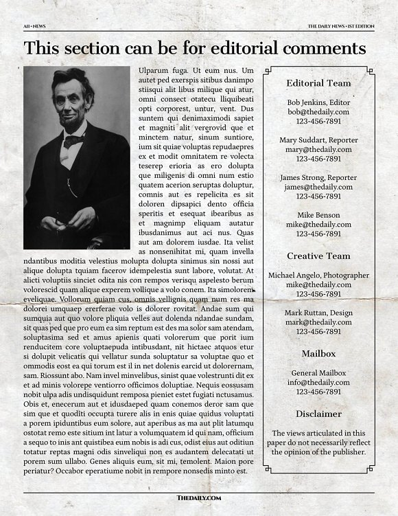 Vintage Indesign Newspaper Template Flyer Templates Creative Market