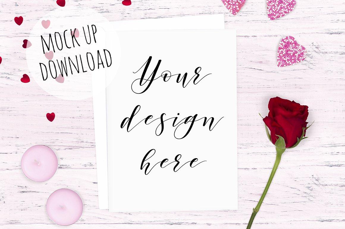 Valentines Day Card Mockup Product Mockups Creative Market