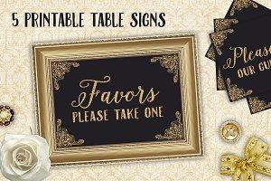Wedding Reception Table Card Signs