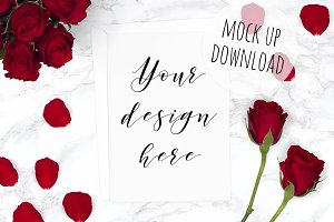 Valentines Day Card Mockup