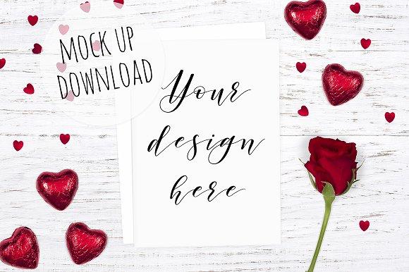 Card Mockup Valentines Theme