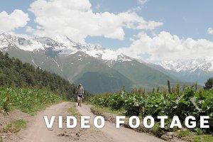 Walking in the Caucasus mountains, Georgia