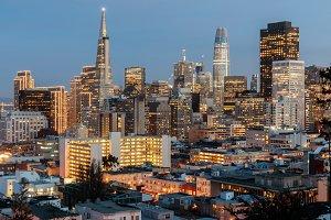 San Francisco Holidays Skyline