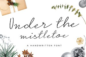 Under the Mistletoe- Script Font