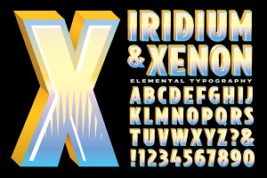 Lettering Design: Iridium & Xenon