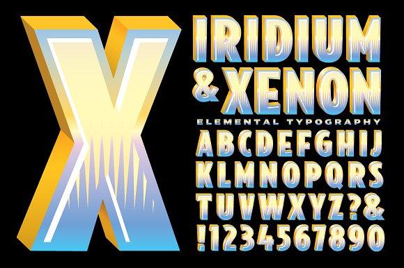 Lettering Design Iridium Xenon