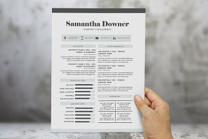 2 in 1 modern Word resume