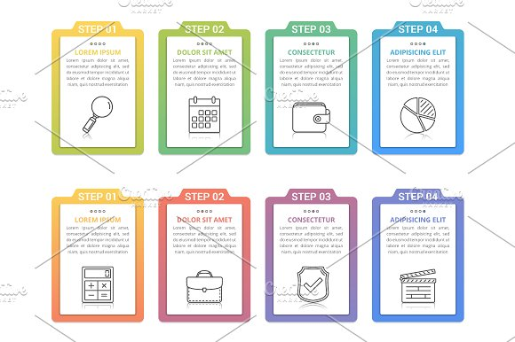 Infographic Elements With Numbers